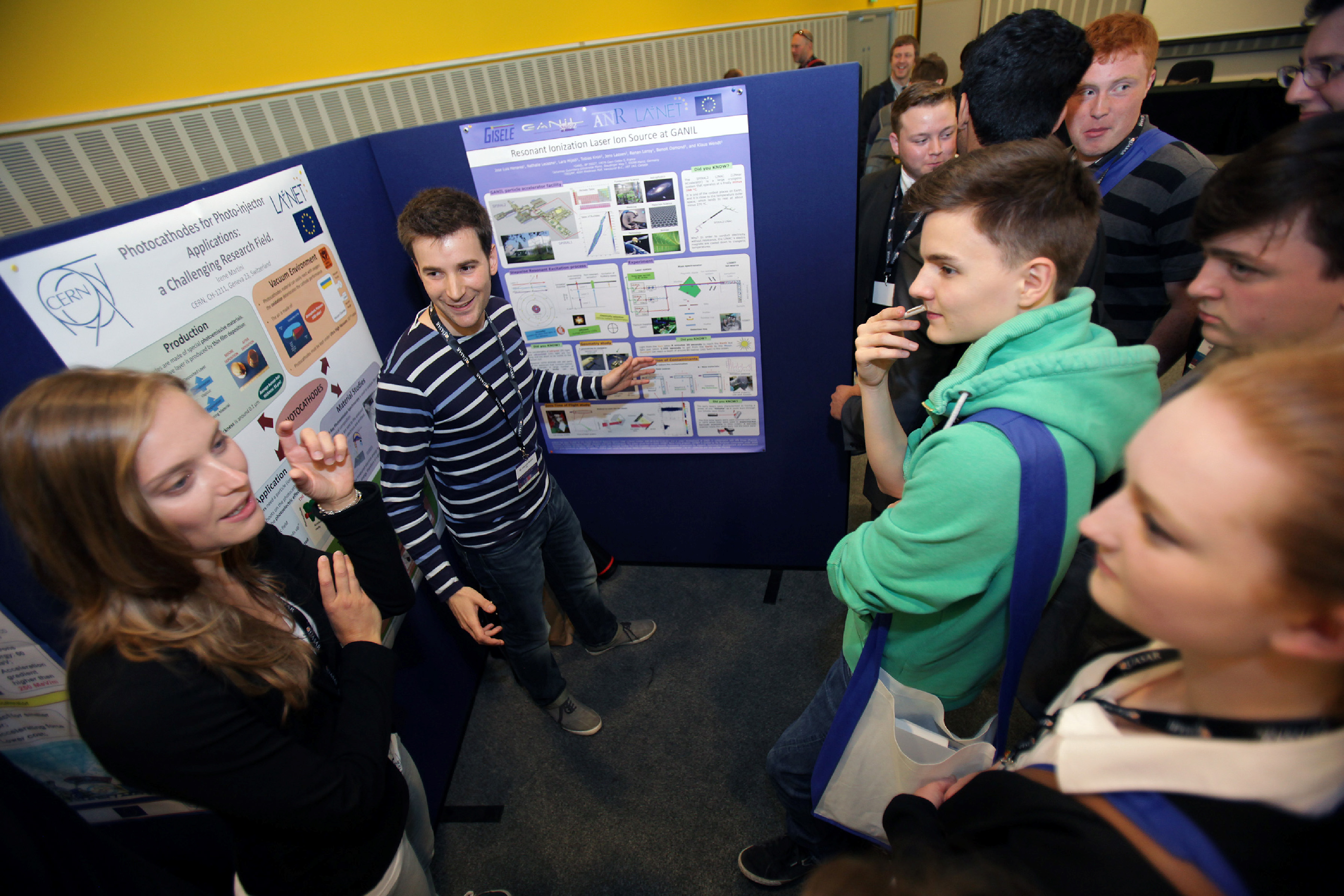 Fellows and students during poster session.