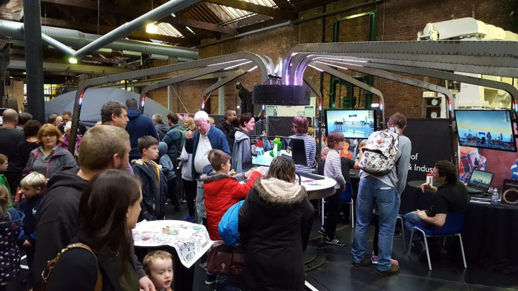 The hugely popular Accelerating discoveries event at the Museum of Science and Industry.