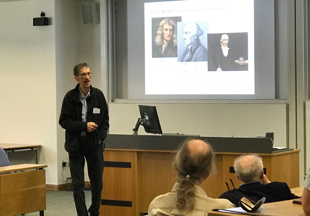 Andy Wolski delivering his IoP Prize talk at Lancaster University